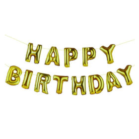 Party Time - happy birthday balloons banner