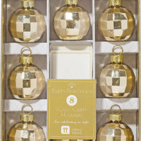 Party Porcelain - place card holders gold 8stk