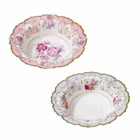 Truly Scrumptious - floral paper bowls 12stk