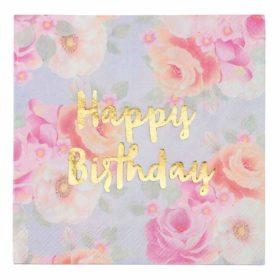 Truly Scrumptious - napkins happy birthday