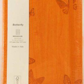 Ivory 130x210 butterfly orange