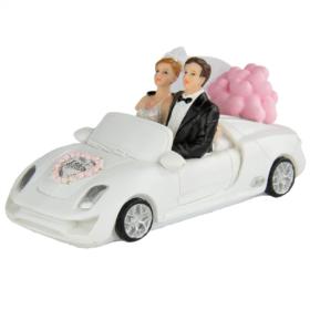 Brudepar i bil 6x14cm