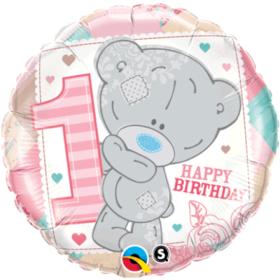 Folieballong - Tiny Tatty 1st Birthday Girl