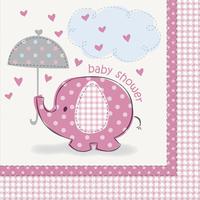 Servietter baby shower girl