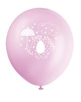 Ballonger 8pk baby shower pink