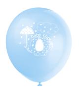 Ballonger 8pk baby shower blue