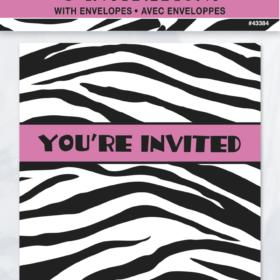 Invitasjon zebra