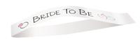 """""""bride to be"""" ring sash"""