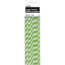 Straw lime green stripes