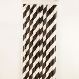 Straw black stripes
