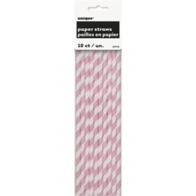 Straw lovely pink stripes