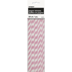 Straw lovely pink stripes