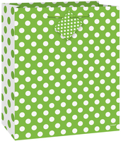giftbag medium green dots