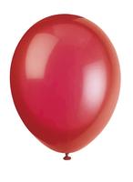 Ballonger 10pk - skarlagen rød