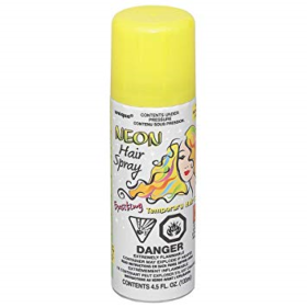 Neon hairspray yellow