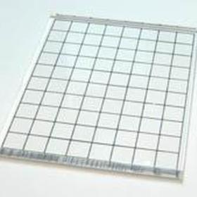 Akrylkloss m/ruter 8,5x10,5cm