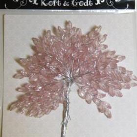 Pyntegren m krystaller rosa
