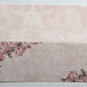 Bordkort roser