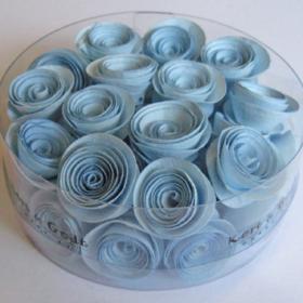 blomst snurret S lysblå