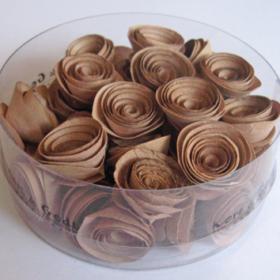 blomst snurret S brun