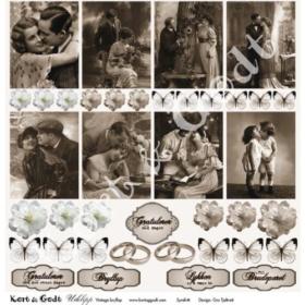 "utklipp vintage bryllup 12x12"""