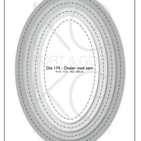 Die 174 ovaler med søm