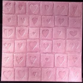 """12"""" paper heart squares"""