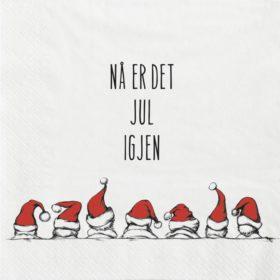 Servietter - Nå er det jul igjen