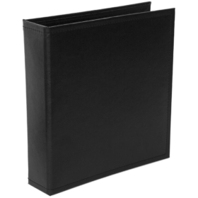 "Project Life Classic Faux Leather D-Ring Album 6""X8"" - midnight"