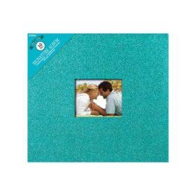 "Colorbok Post Bound Glitter Album 12""X12"" teal"