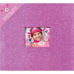 """Colorbok Post Bound Glitter Album 12""""X12"""" pink"""