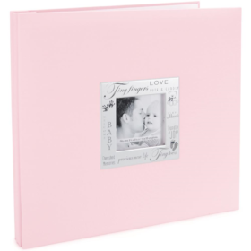 "MBI Expressions Post Bound Album W/Window 12""X12"" baby pink"