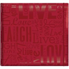 """MBI Gloss Post Bound Album 12""""X12"""" red"""