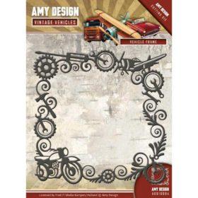 Amy Design Die-  Vintage Vehicles, vehicle frame