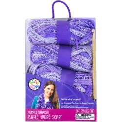 ruffle scarf kit purple