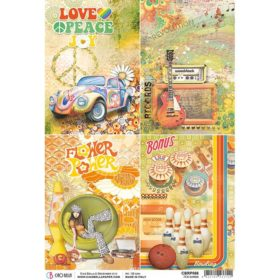 Ciao Bella Rice Paper A4 - 70's Cards