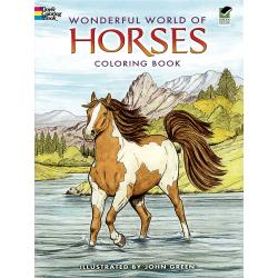 Dover Coloring book - horses