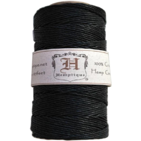 Hemp cord spool 20# black