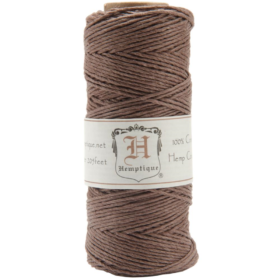 Hemp cord spool 20# dark brown