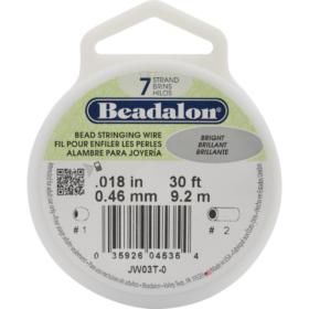 Beadalon wire 7 strand  - sølv