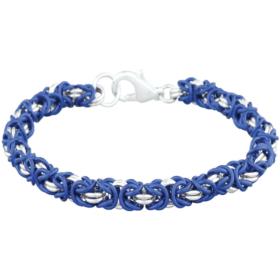 Chainmaille Jewelry Kit - Byzantine Bracelet, lapis