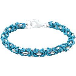 Chainmaille Jewelry Kit - Byzantine Bracelet, turquoise