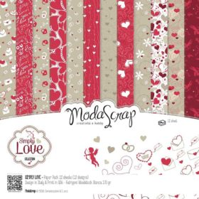 """12"""" paper pack - simply love"""