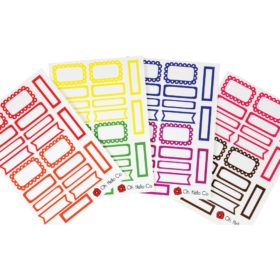 Oh Hello Planner Stickers 4 Sheets - Rainbow Functional