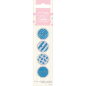 Lrg buttons blue 4pc