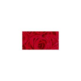 loom mini bands 300/pkg red