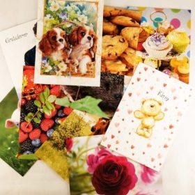 Enkle postkort 10stk - helårs
