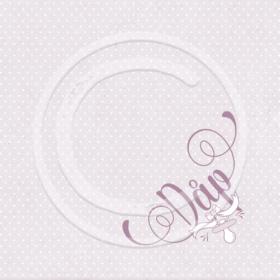 serviett dåp rosa
