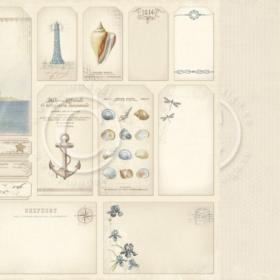 """Shorline treasures -  tags 12x12"""""""
