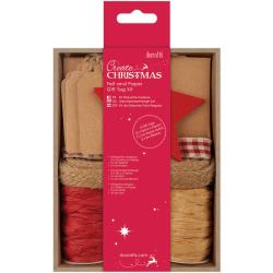 felt and paper gift tag kit red